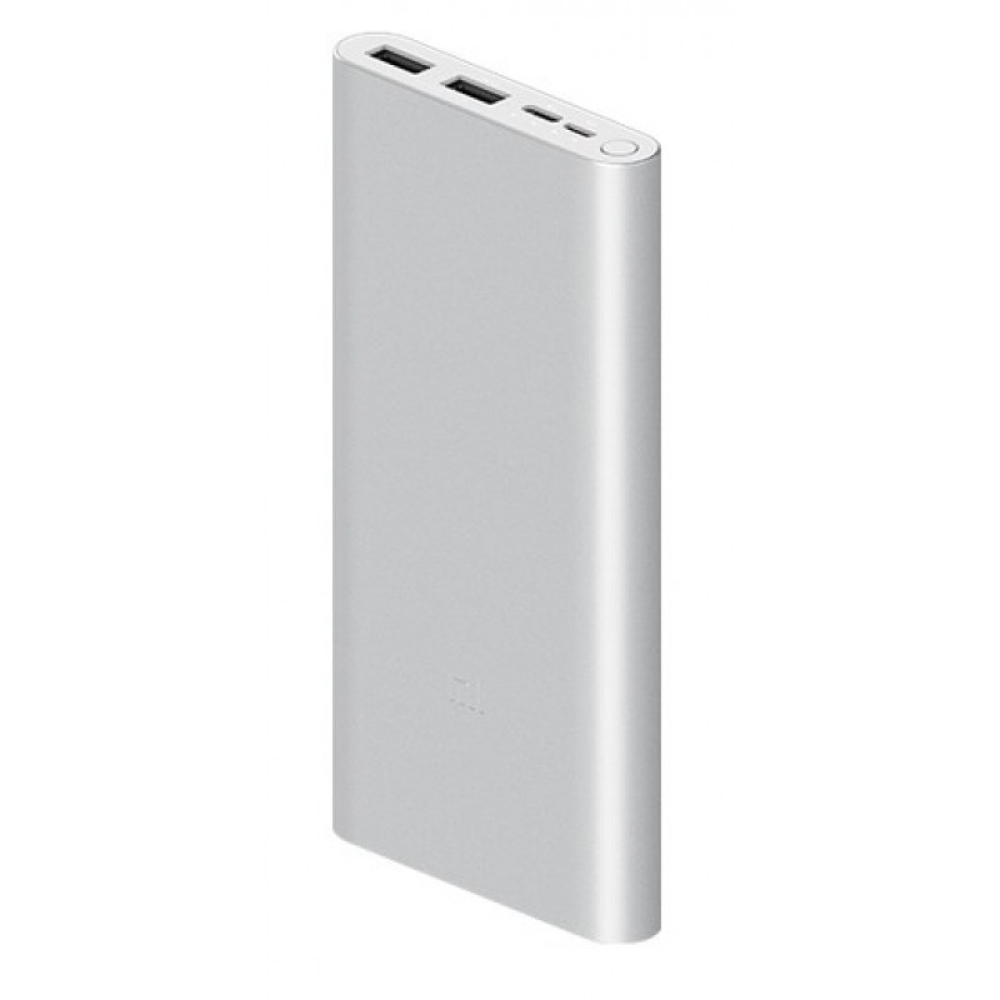 Внешний аккумулятор Xiaomi Mi Power Bank 3, 18W, Fast Charge (Silver)